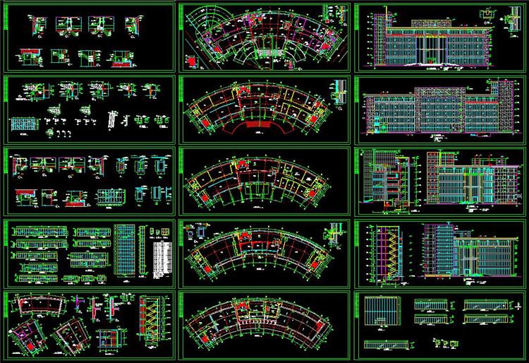 11全套办公楼CAD图纸