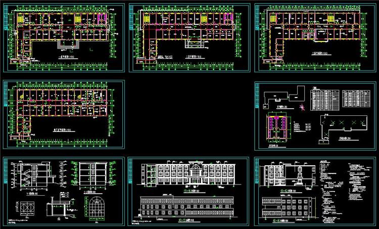 11医院综合楼CAD图纸