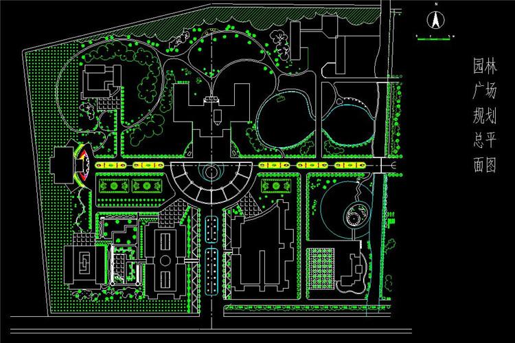11园林广场规划总平面图