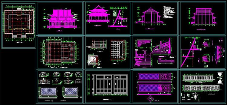 11大雄宝殿建筑图纸