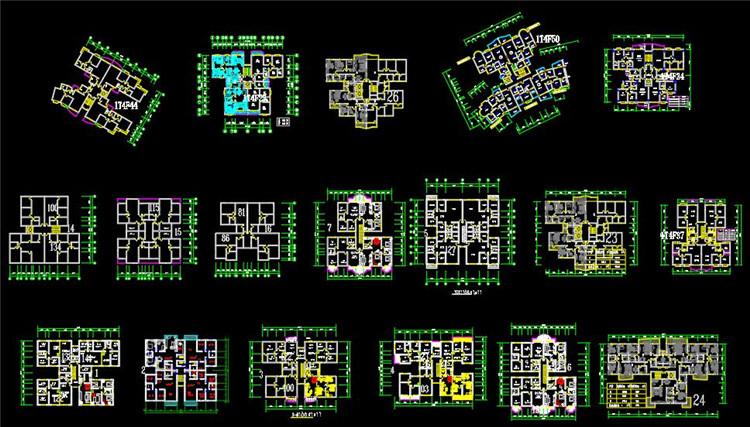11小区CAD户型图
