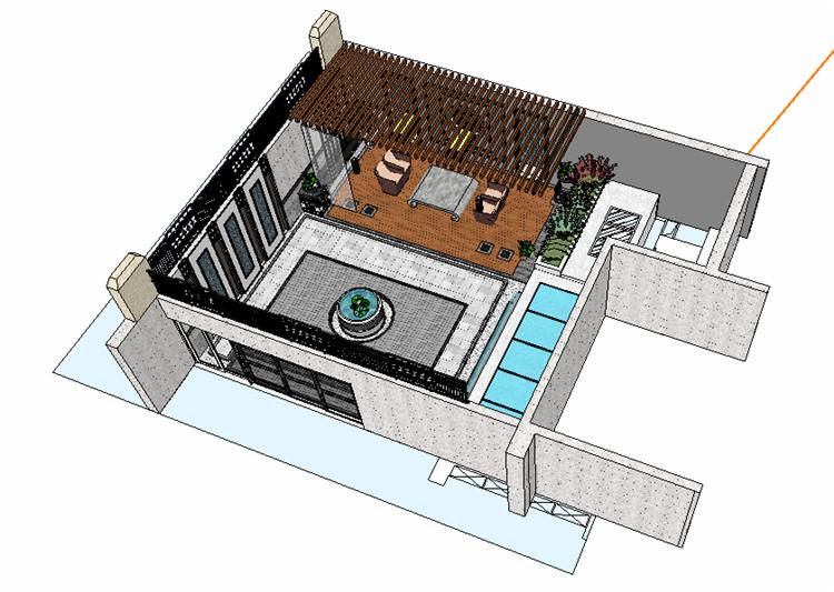 11庭院花园SU模型文件9