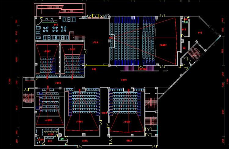 11影厅层平面布局