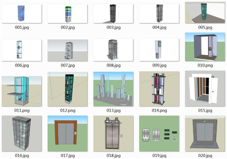 11电梯SU模型文件