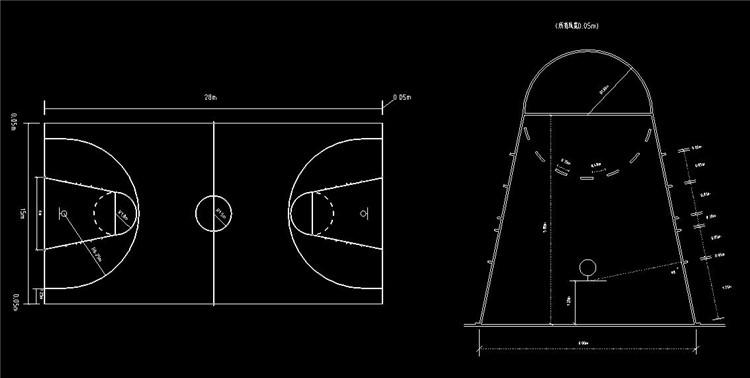 11篮球场平面图