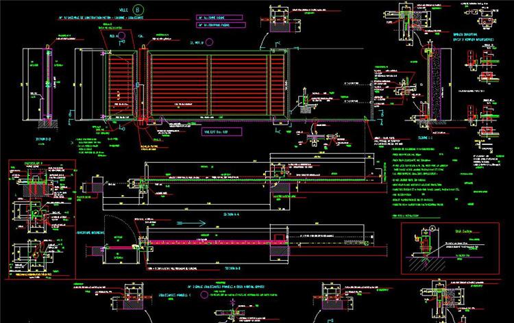 11自动钢大门详图