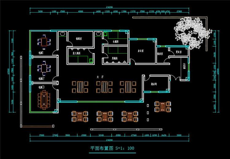11茶室CAD施工图