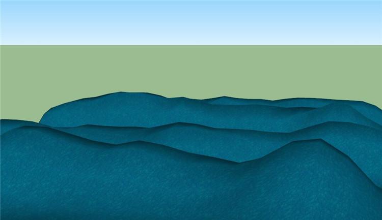 11起伏的海浪SU模型