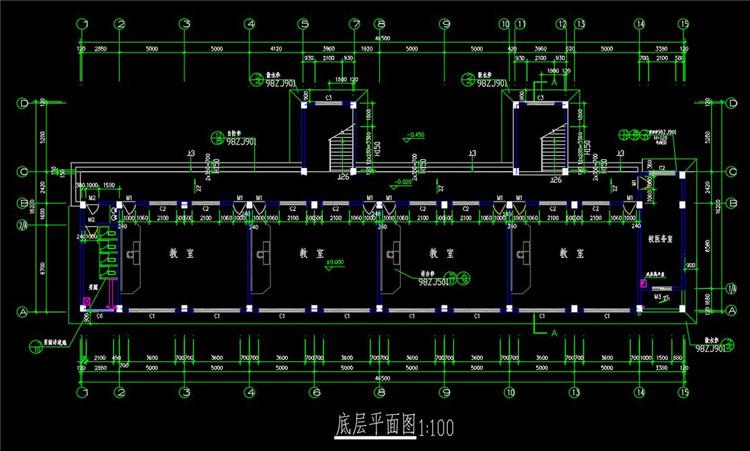 12七层教学楼CAD图纸