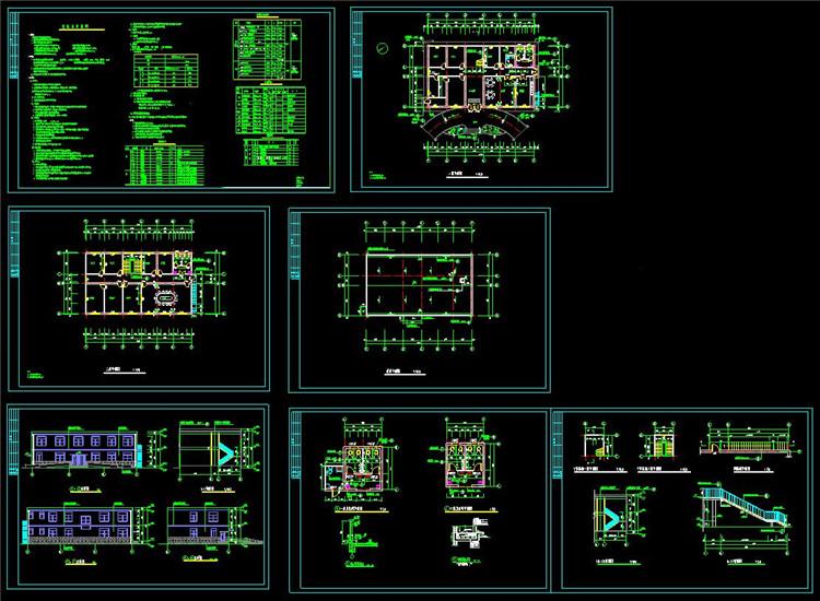 12全套办公楼CAD图纸1