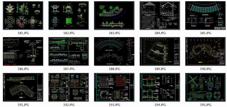 12八角亭施工图