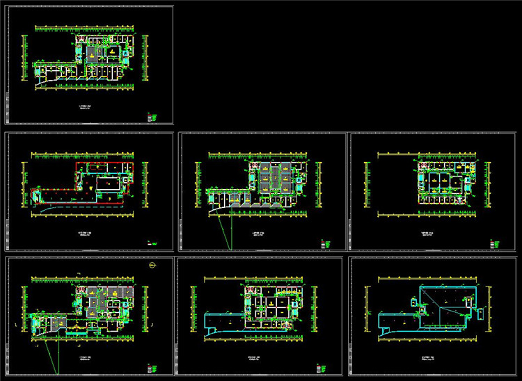 12医院各层平面图