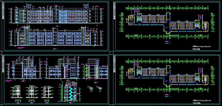 12大学CAD施工图纸3