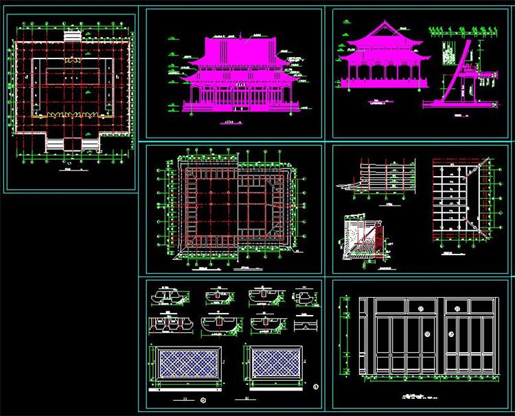 12宝塔寺庙CAD图纸6