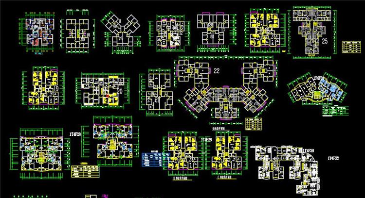 12小区CAD户型图1