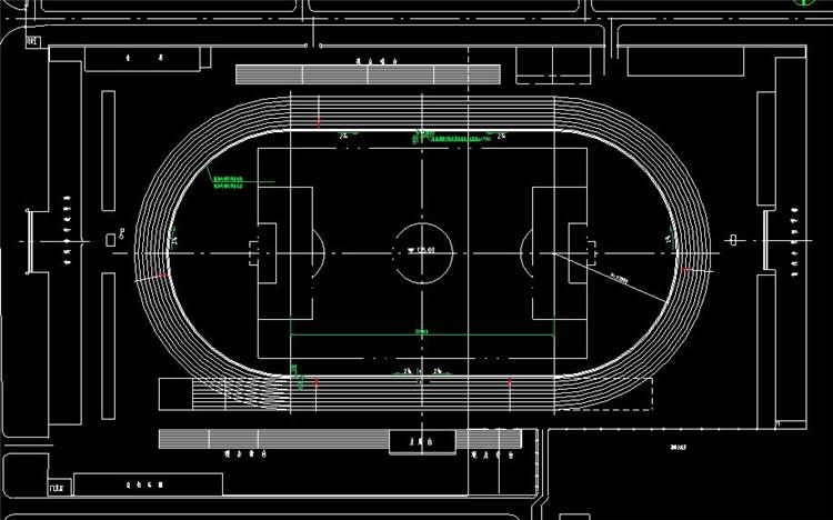 12标准中学操场施工图