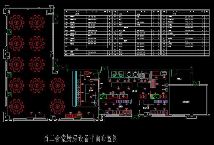 12饭堂CAD图纸