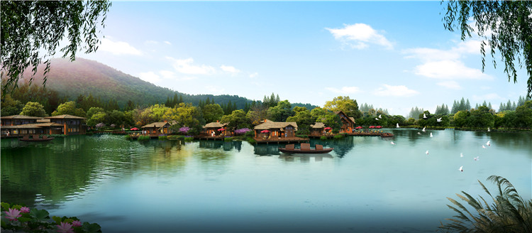 13中式水景效果图
