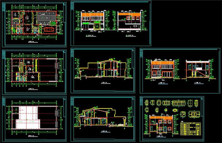 13全套中式四合院CAD施工图纸7