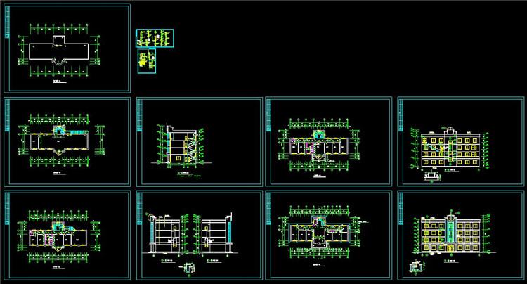 13办公楼CAD平面图
