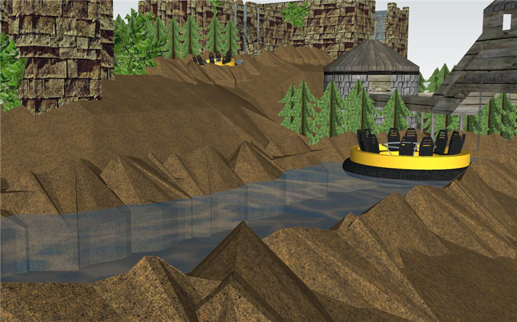 13山庄漂流地形的SU模型设计