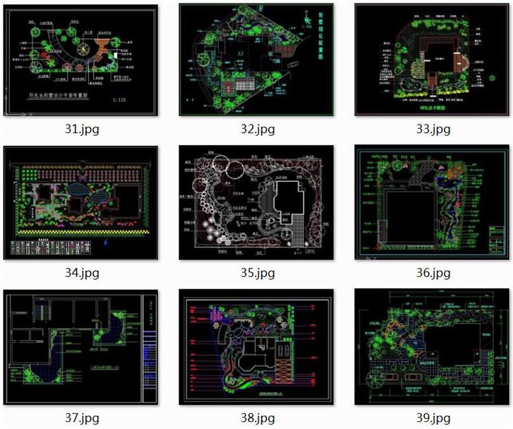 13庭院花园CAD图纸2