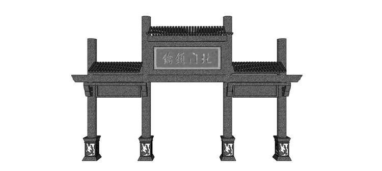 13牌坊SU模型11