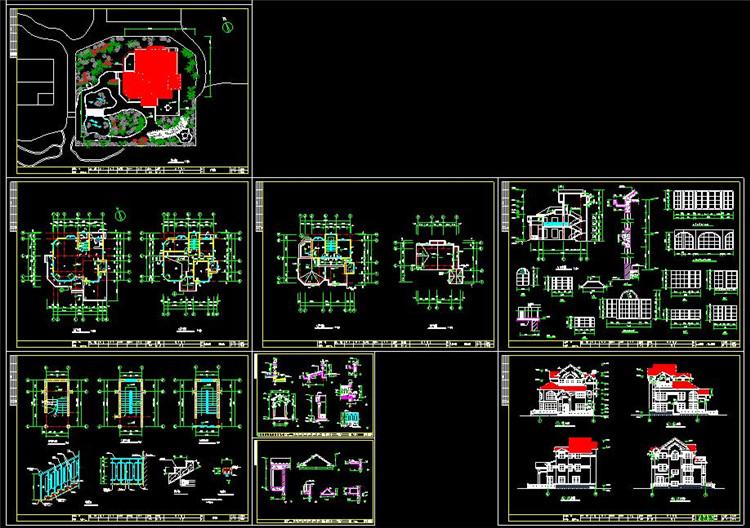 13自建房CAD图纸