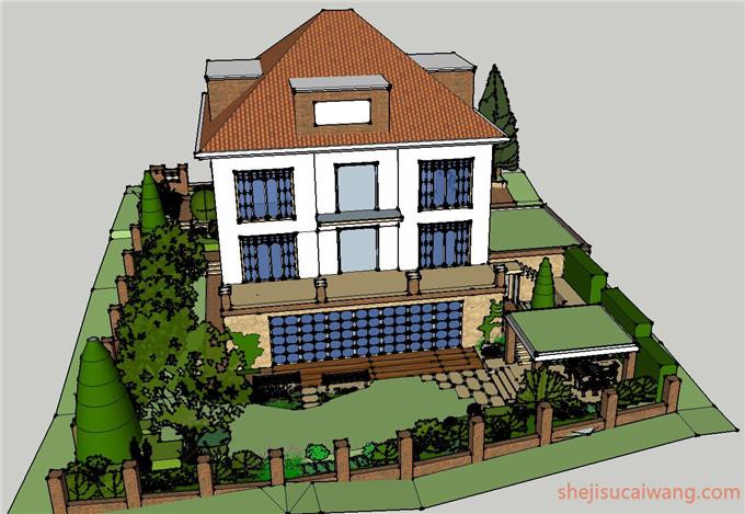 134套屋顶花园及庭院SU3