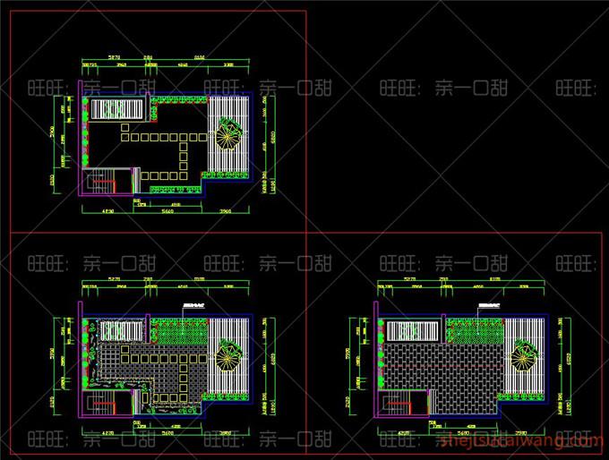 136个别墅屋顶花园CAD平面图2