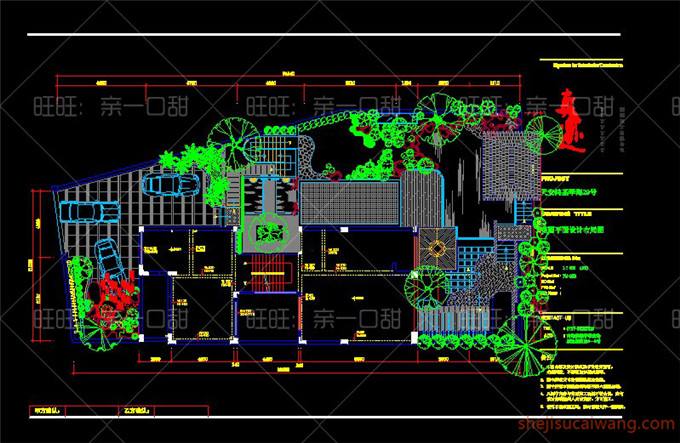 136个别墅屋顶花园CAD平面图3