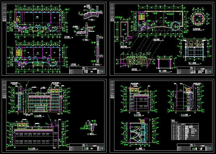 14体育馆文体建筑图