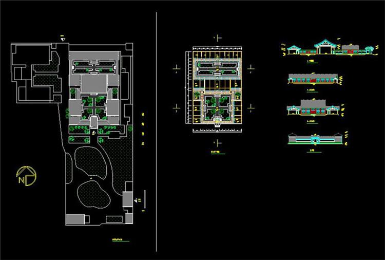14全套中式四合院CAD施工图纸8