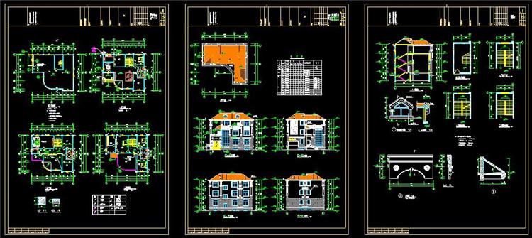 14农村住宅CAD图纸