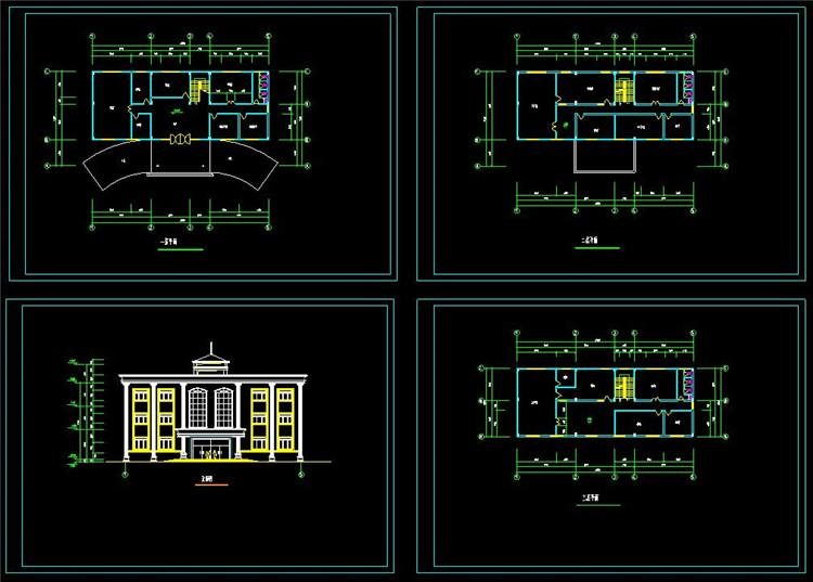 14办公楼CAD立面图