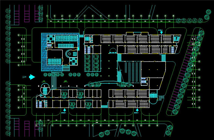 14大学CAD平面图