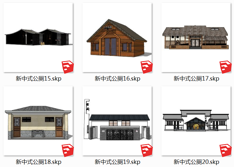 14景区厕所SU模型10