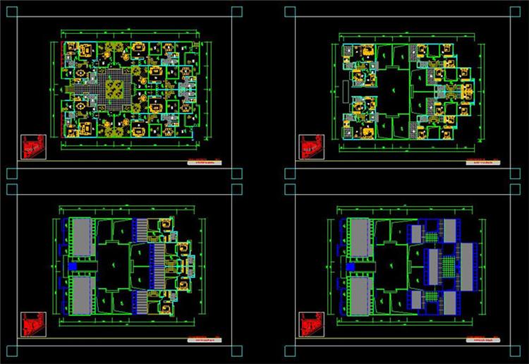 15全套中式四合院CAD施工图纸9