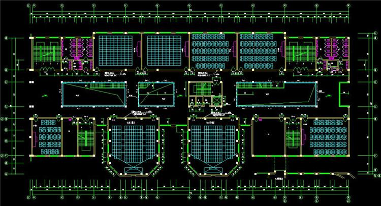 16大学CAD平面图2