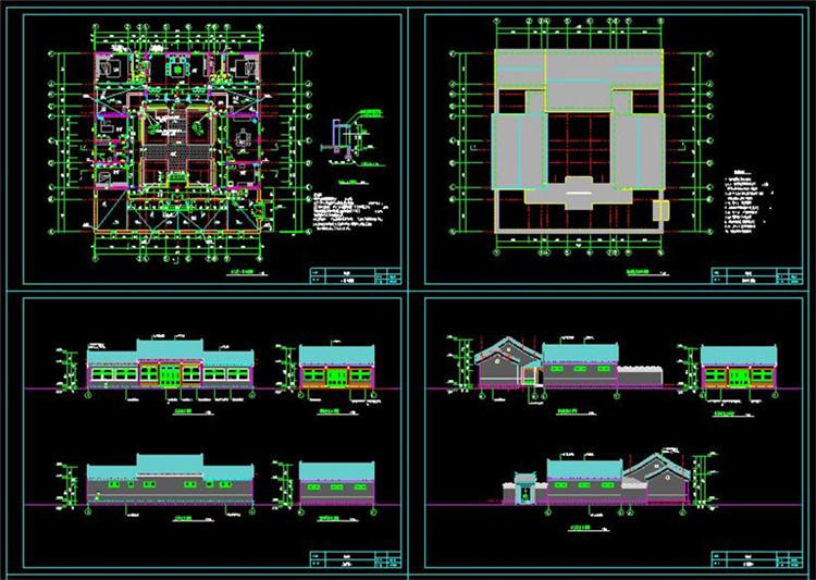 17全套中式四合院CAD施工图纸11