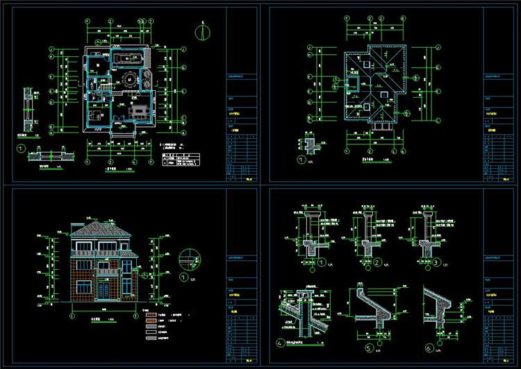 17农村住宅CAD图纸1