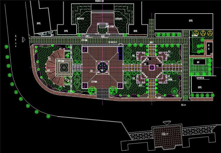 20下沉广场平面图
