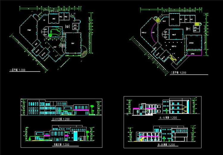 22大学生活动中心CAD图纸5