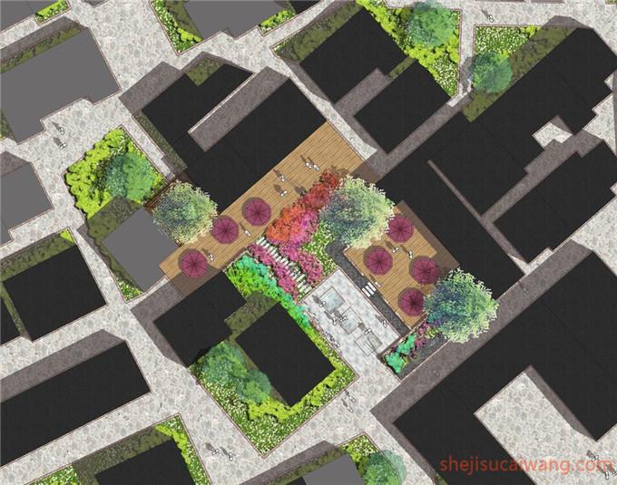 9张庭院屋顶花园总平面图PSD1
