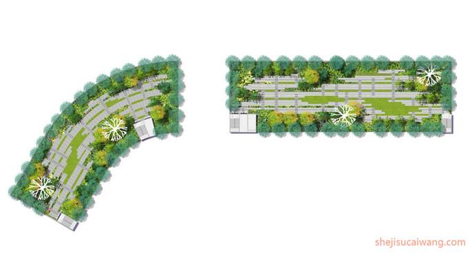 9张庭院屋顶花园总平面图PSD6