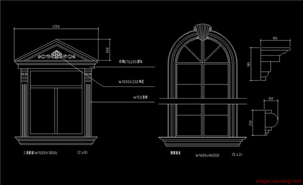 欧式门窗详图 46个2