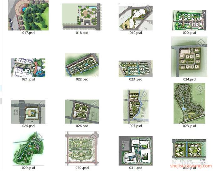 小区规划彩平图PSD合集60个1