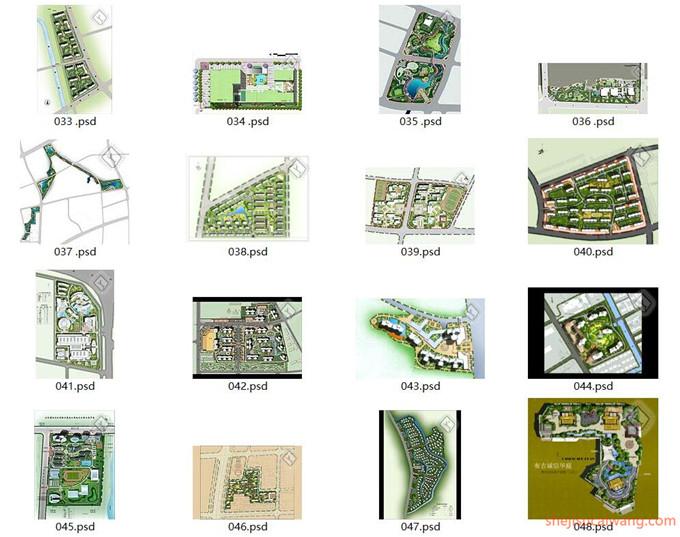 小区规划彩平图PSD合集60个2