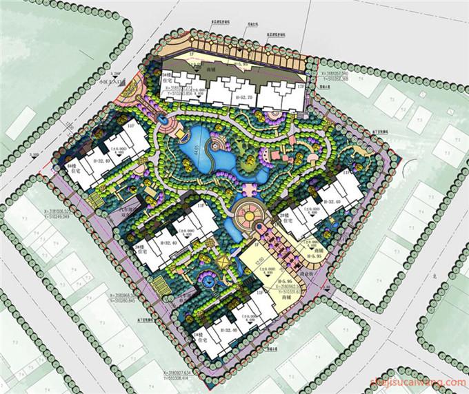 小区规划彩平图PSD1