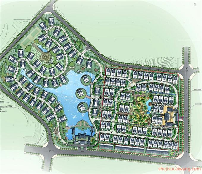 小区规划彩平图PSD3